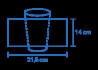 Área de impressão Copo Eco® 550ml