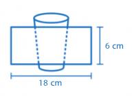 Área de impressão Copo Eco® 200ml