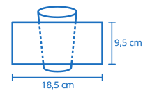 Área de impressão Copo 300ml