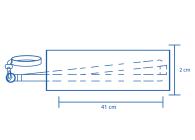 Área de impressão Porta-copo com cordão