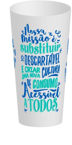 Personalize seu copo eco